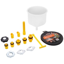 1 conjunto plástico funil de enchimento bico despeje óleo ferramenta à prova derramamento líquido refrigerante enchimento kit 6xdb