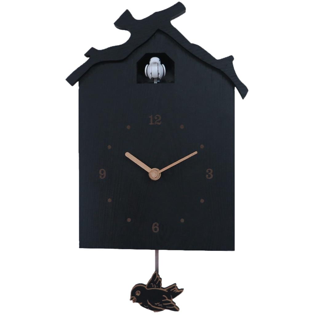 Birdhouse Modern Cuckoo Clock Natural Bird Call Pendulum Wall Clock Kids Gifts Battery Operated Repair Tools Kits Aliexpress