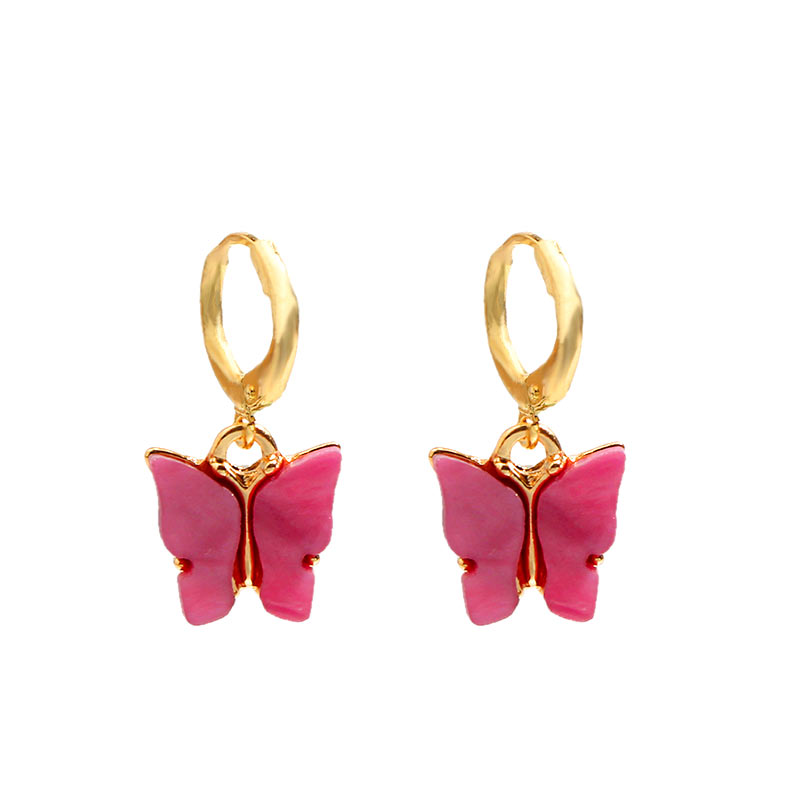 H3c24c9e021ad498dbef0f220fd4e804fq - Flatfoosie New Fashion Women Butterfly Drop Earrings Animal Sweet Colorful Acrylic Earrings 2019 Statement Girls Party Jewelry