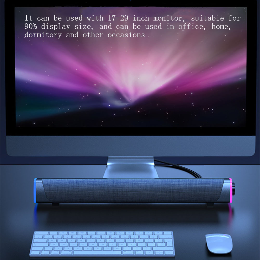 3D Computer Speakers Bluetooth 5.0 Wired Loudspeaker Surround Soundbar Speaker Stereo Subwoofer Sound bar for Laptop Notebook PC 2
