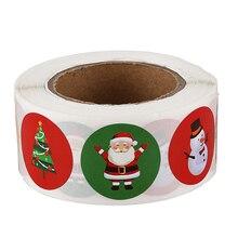 Holiday Stickers 500Pcs Christmas Sticker Santa Claus Deer Decorative Adhesive R