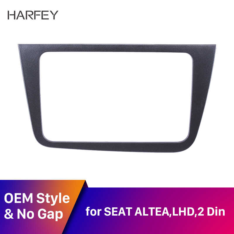 Harfey 220*130mm Stereo 2DIN Autoradio Fascia Dash Car Trim Kit for 2004+ SEAT Altea Toledo LHD DVD Player refitting Frame Panel