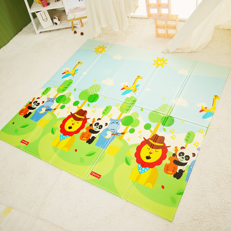 FISHER-PRICE New Products XPe Folding Pad Baby Crawling Mat Toy Folding Foam Floor Pad Double-Sided Folding Pad