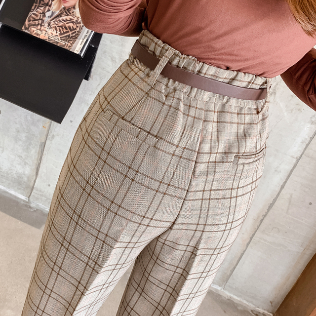 Casual Plaid Trousers 6