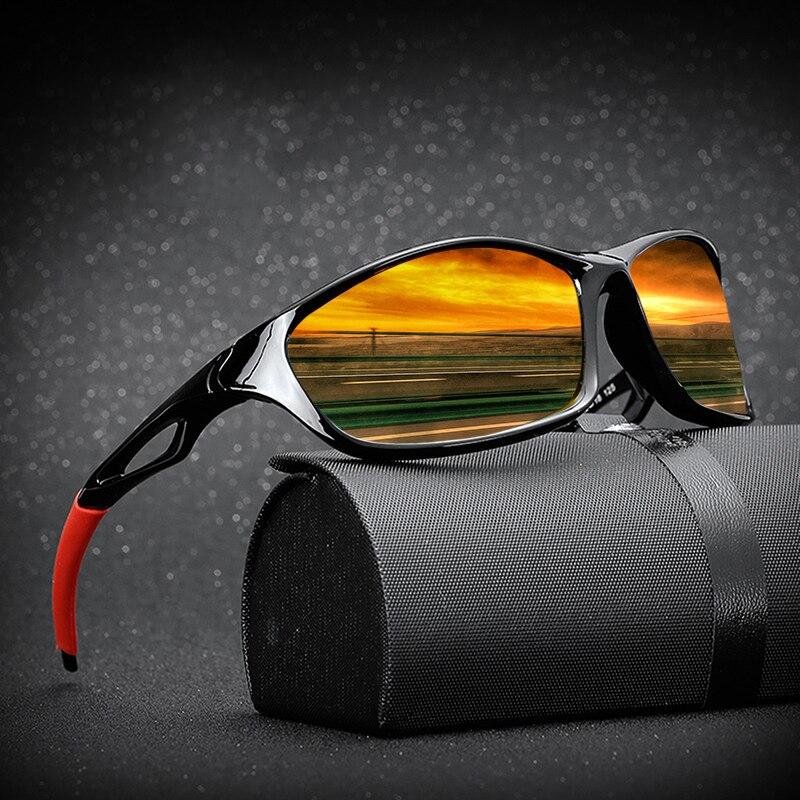 2020 New Polarized Sunglasses Men Brand Designer Square Sports Sun Glasses for Men Driving Fishing Black Frame Goggle UV400