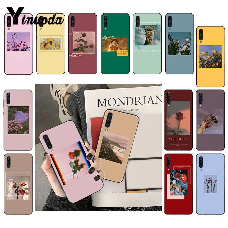 Yinuoda Great Art Prints Blooming Flowers Sunflower Rose Phone Case For Samsung Galaxy A7 A50 A70 A40 A20 A30 A8 A6 A8 Plus A9