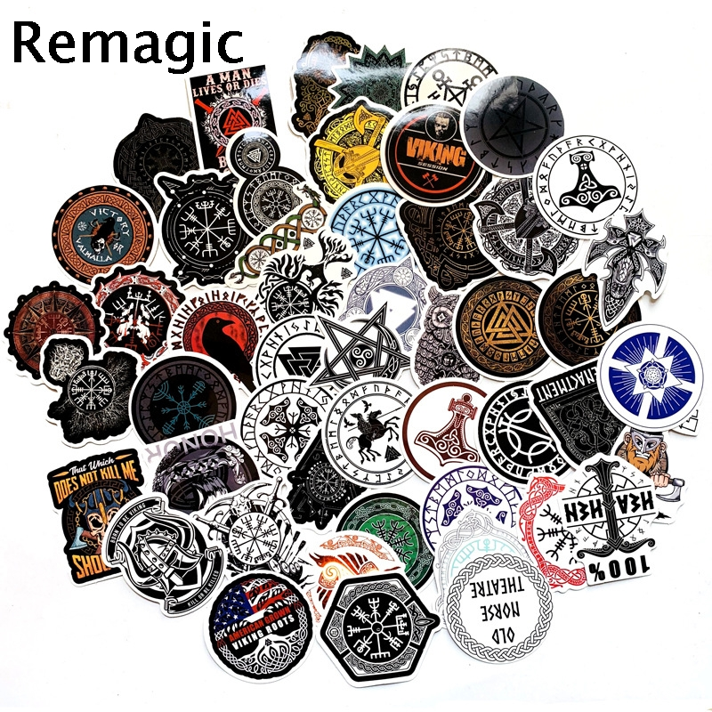 50pcs Vikings Stickers Paster Cartoon Characters Anime Movie Funny Decals Scrapbooking Diy Phone Laptop Waterproof Decorations