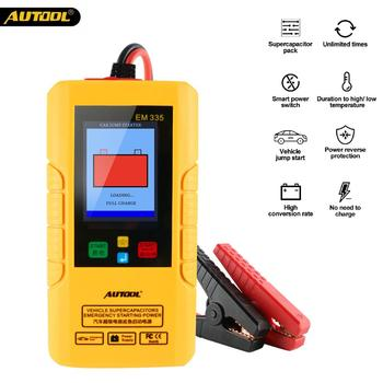 Autool EM335 Car Ultracapacitor Starter Portable Emergency Battery Jump Starter 12V Power Bank Batteryless Unlimited Use Tools emergency 12v car lithium battery jump starter with anti over charge clamps dual usb output