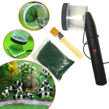 Static Fiber Grass Spread Machine Micro Flocking Planting Machine For Diorama Grass Mat Making Layou Kits