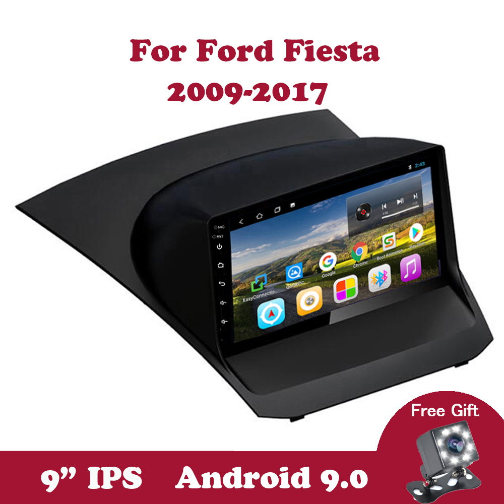 Android 9.0 Car Radio For Ford Fiesta  2009 2010-2018 2019 IPS GPS Navigation Auto Stereo Video With Canbus  Support DVR SWC DVD