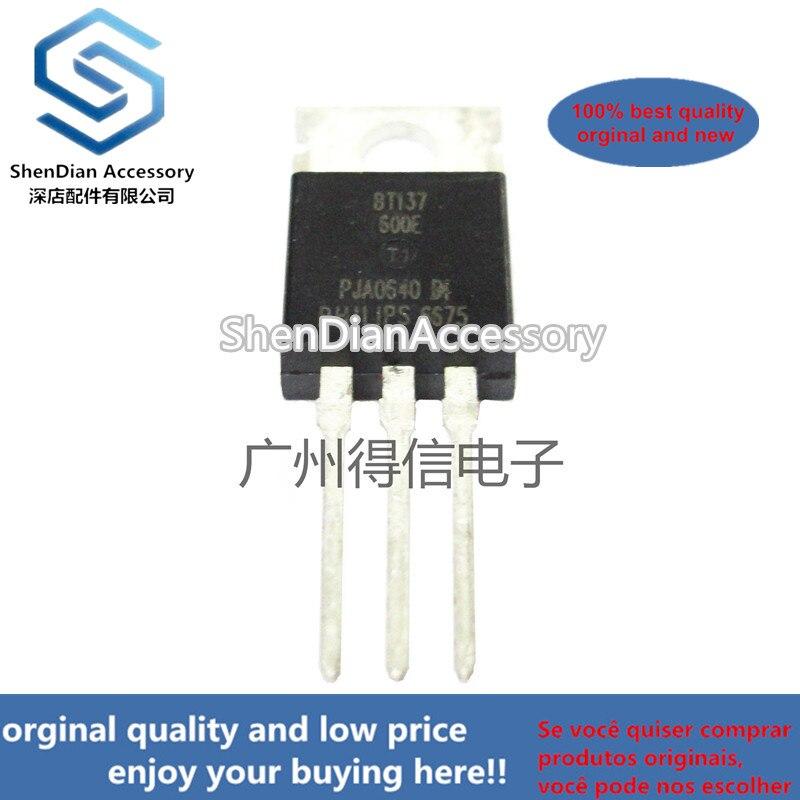 10pcs 100% Orginal BT137-600E BT137 TO-220  Thyristor Product Catalog Real Photo