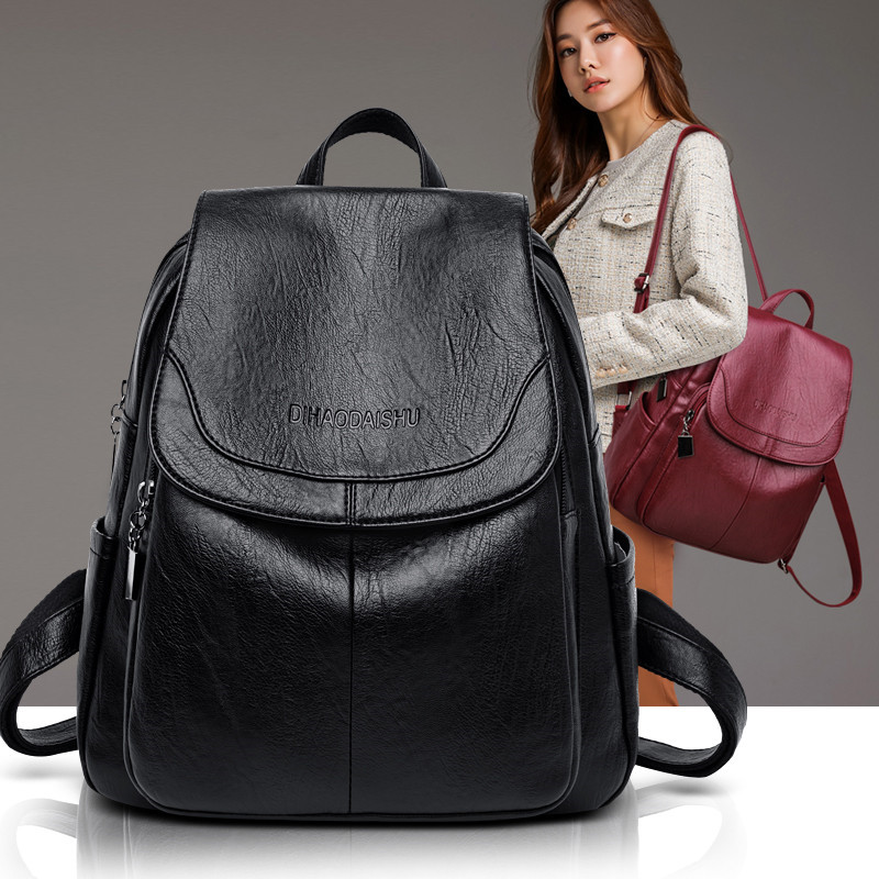 Large Women Backpack Leather Female Travel Shoulder Bag Backpack High Quality Women School big Back Bag Backbag for Girl Mochila