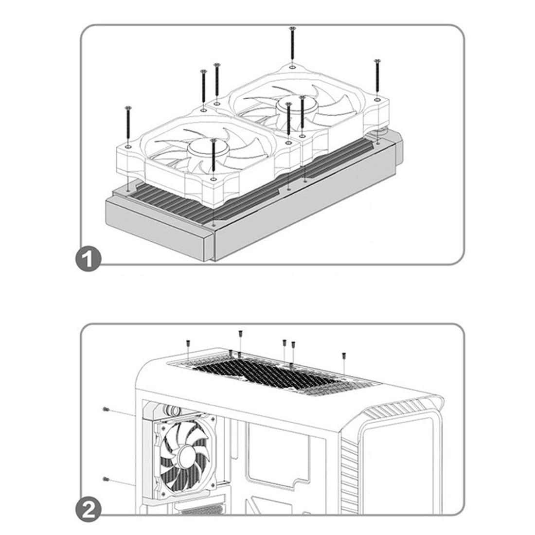 de água sistema fresco para computador para crianças-preto branco