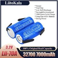 2020 LiitoKala Lii-70A 32700 lifepo4 3.2v 7000mah 33A 55A striscia di saldatura per batteria cacciavite bici elettrica alimentata + fogli di nichel