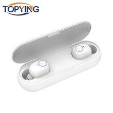 TWS 5.0 Wireless earphones Bluetooth Earphones Sports Earbuds Mini Wireless Bluetooth 5.0 Earphone In-Ear With Mic For Music qcy q29 mini wireless bluetooth 4 1 dual earphones with mic black