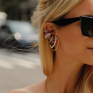 Image 3 - GODKI 1PC Famous Design Ear Bone Cuff Earring For Women Full Mirco Paved Micro Zircon Wedding Earring Fashion Jewelry 2020