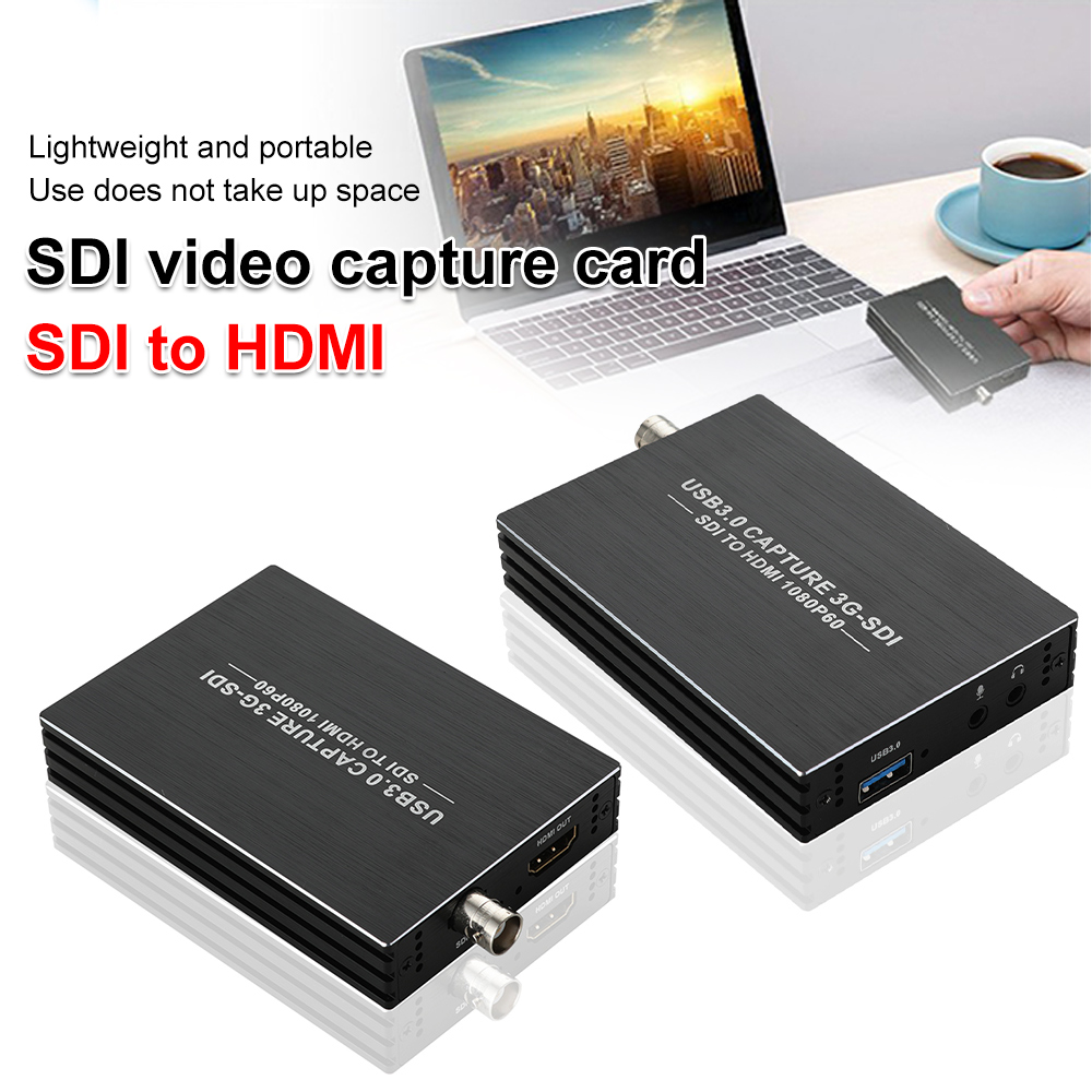 3G SDI To USB3.0 60FPS HDMI Video Capture Card Audio Video Recording Plate Live Streaming 1080p Grabber for PS4 Switch DVD Cam