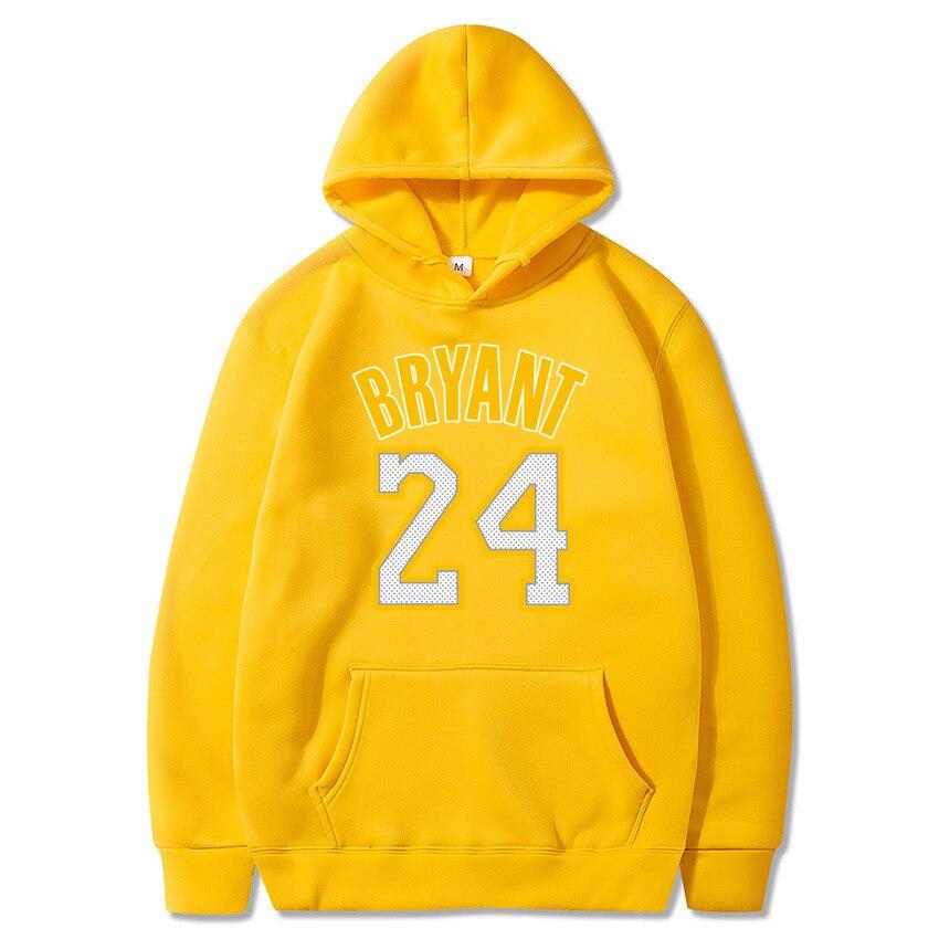 New Fashion Kobe Bryant 24 Men Sportswear Print Men Hoodies Pullover Hip Hop Mens Tracksuit Sweatshirts Clothing
