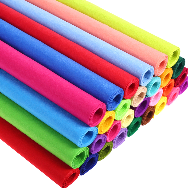 85X100CM 1mm Thickness Non-woven Felt Fabric Polyester Cloth Felts DIY Kindergarten Supplies For Sewing <font><b>Dolls</b></font> Crafts Accessories image