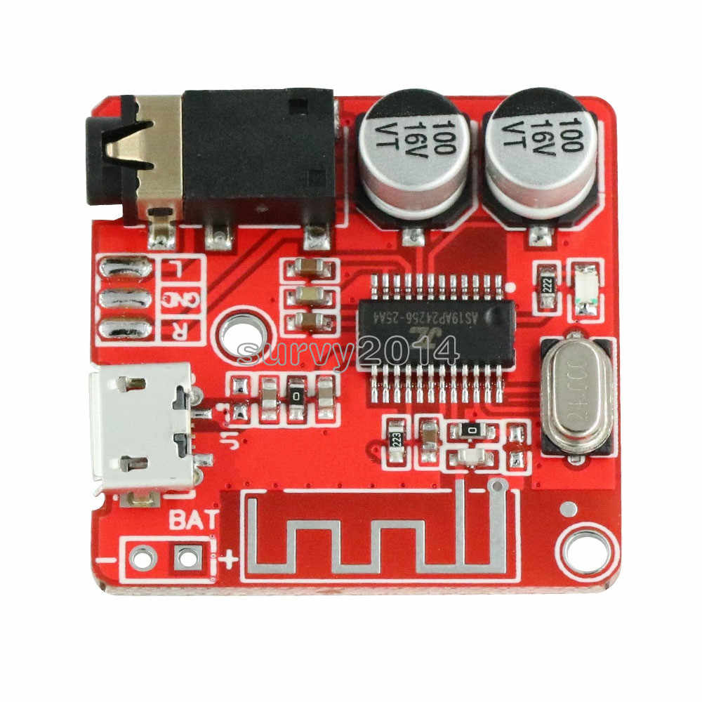 Mini MP3 Bluetooth 4.1 Lossless Decoder Stereo Output Board Mobil Speaker Amplifier Micro USB Modul Papan Sirkuit Modul 3.7V 5V
