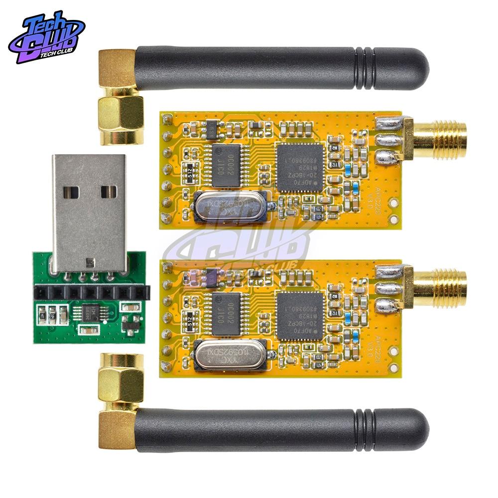 APC220 sans fil RF Module de carte de données série Communication de données sans fil avec antennes adaptateur de convertisseur USB pour kit de bricolage Arduino