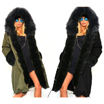 Stylish  Winter Women Long Coat Female Autumn Warm Hooded Down Jacket Soft Thick Cotton Fur Parkas Winter Warm Outwear Coat New new large fur down jacket winter women 2020 new fashion loose hooded cotton padded jacket coat female thick long parkas outwear
