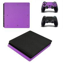 PS4 тонкие наклейки из углеродного волокна Play station 4 тонкий кожи наклейка Стикеры для playstation 4 тонкая консоль и контроллер