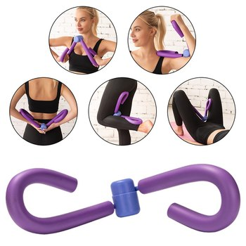 PVC Exercisers Gym Arm Chest Waist Exerciser Workout Thigh Machine Gym Sports Thigh Master Leg Muscle Home Fitness Equipment image