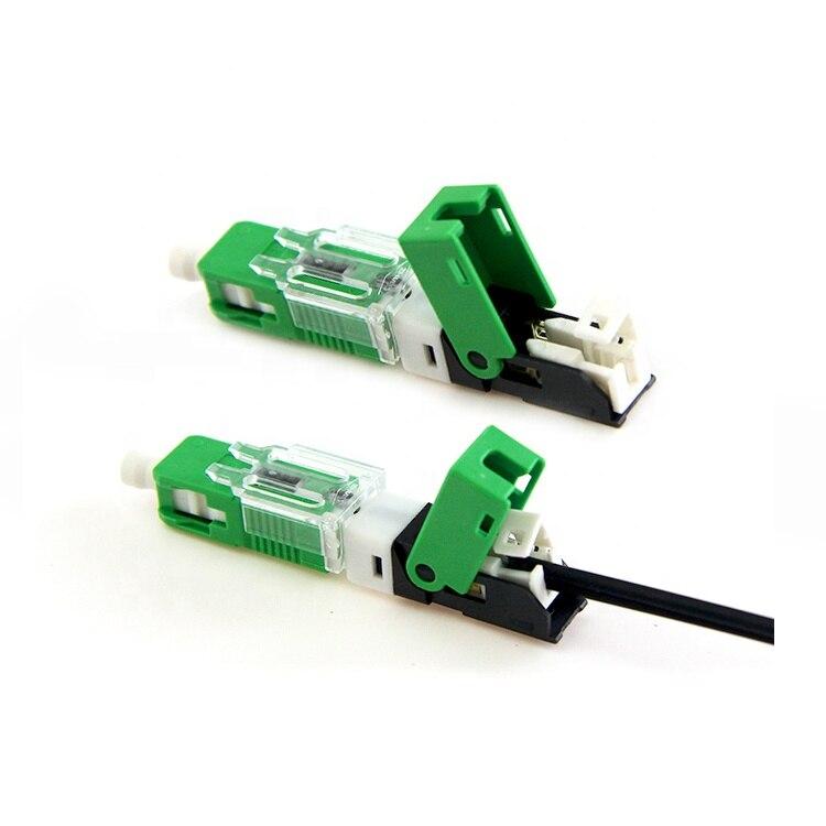 100 unids/caja UNIKIT FTTH ESC250D SC UPC /SC APC fibra óptica monomodo nuevo modelo conector rápido óptico Conector rápido FTTH SC APC, 100 Uds., 50 Uds., fibra óptica de modo único, conector rápido SC UPC, adaptador de fibra óptica de cola recta