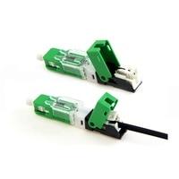 100PCS/box UNIKIT FTTH ESC250D SC UPC /SC APC Single Mode Fiber Optic New Model Optic Fast Connector