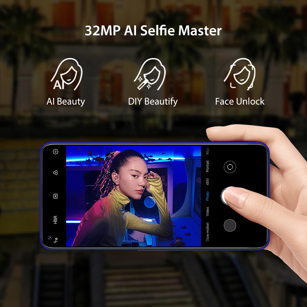 "UMIDIGI F2 Android 10 Global Bands 6.53""FHD+6GB 128GB 48MP AI Quad Camera 32MP Selfie Helio P70 Smartphone 5150mAh NFC 3"