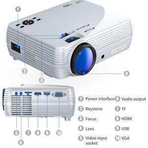 Image 4 - Puissant Mini projecteur X5 + 1280*720P 2800 Lumens 1080P Support 3D Portable projecteur se connecter via port USB HDMI VGA avec TV box PS4