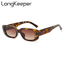 Classic Rectangle Sunglasses Women Men Vintage Leopard Squar