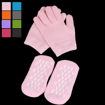 1 Pair Reusable SPA Gel Socks Gloves Moisturizing Whitening Exfoliating Smooth Hands Feet Care for Adult Hand Mask 1