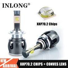 Оригинальный XHP70.2 H7 H11 светодиодный абажур лампы H4 H1 H8 светодиодный головной светильник лампа Canbus без ошибки Hb3 9005 9006 светодиодный противотуманных фар с возможностью креативного светильник 6000K