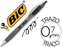 עט ביק אטלנטיס שחור נשלף ג 'ל דיו טיפ 1 MM 12 יחידות