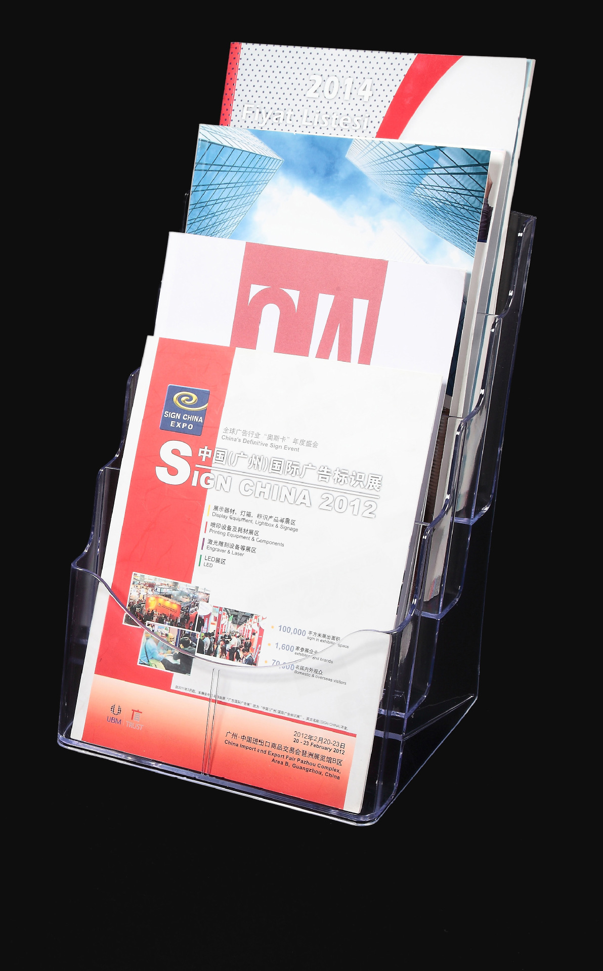 KEJEA Conway Content Showing Stand K-159 A4 Tri-fold Page Brochure 4-Layer Showing Stand Desktop Display Stand