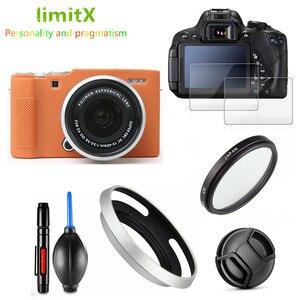 Image 2 - 보호 키트 화면 보호기 카메라 케이스 가방 uv 필터 금속 렌즈 후드 fujifilm X A7 xa7 카메라 15 45mm 렌즈