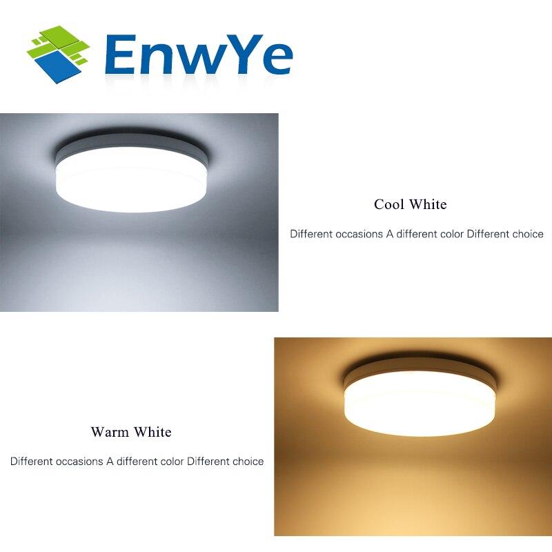 EnwYe 6W 9W 13W 18W 24W 36W 48W LED Circular Panel Light Surface Mounted led ceiling light AC 85-265V lampada led lamp 6