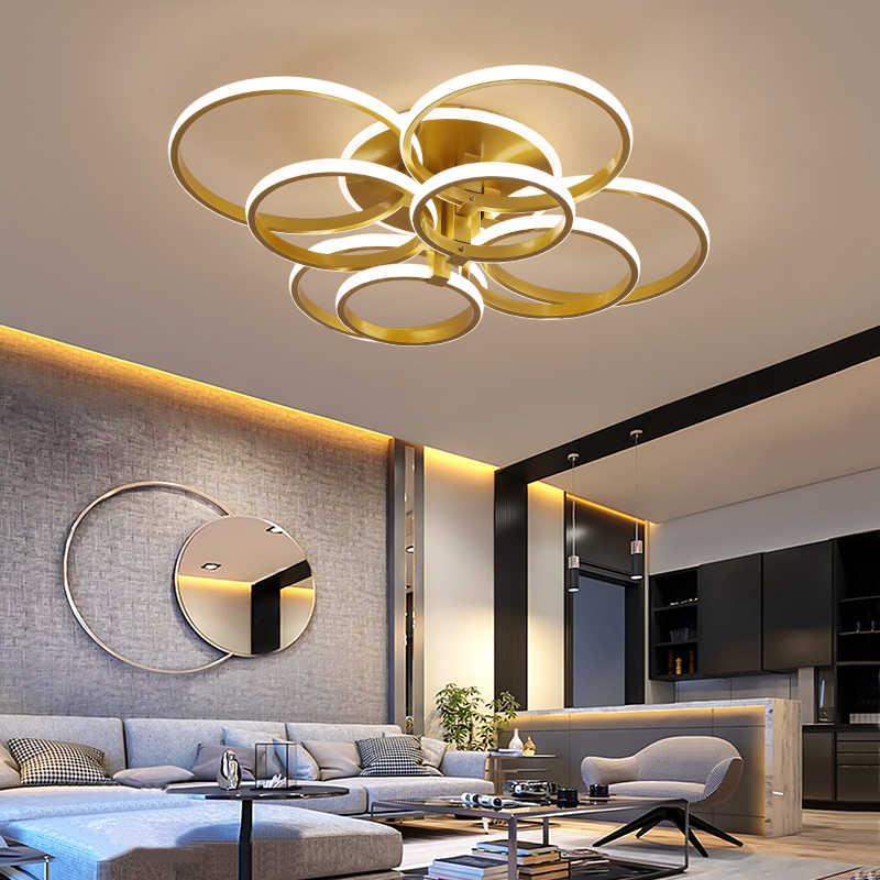 Luzes de teto modernas led lâmpada do teto para sala estar quarto cor café branco superfície montado lâmpadas redondas controle remoto