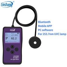 Linshang LS126C UVC licht meter UV power meter für 254nm bakterizide keimtötende sterilisation desinfektion lampe mit bluetooth