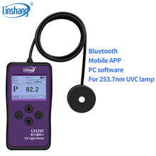 Linshang LS126C UVC light meter UV power meter for 254nm bactericidal germicidal sterilization disinfection lamp with bluetooth