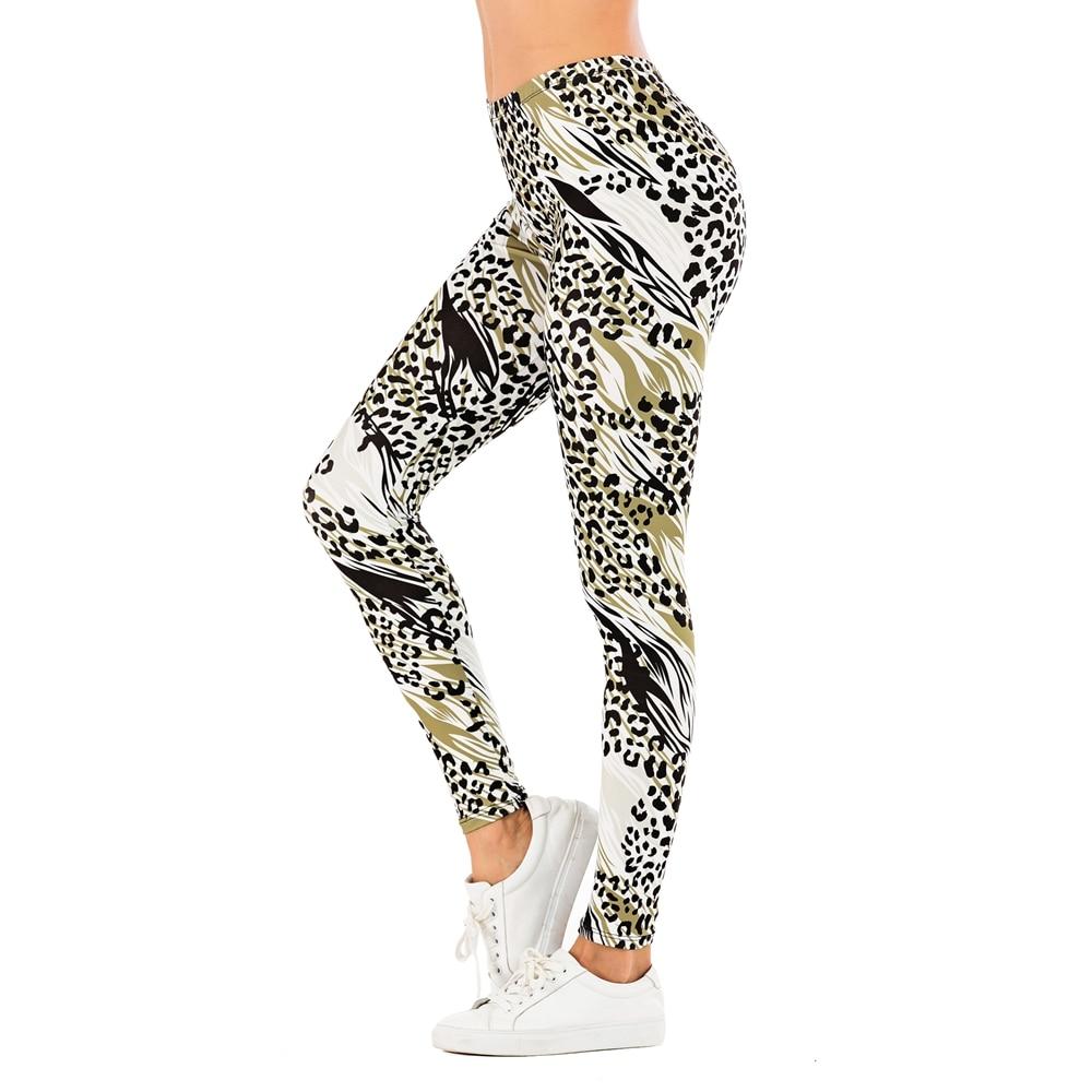 Brand Sexy Women Legging leaf Printing Fitness leggins Fashion Slim legins High Waist Leggings Woman Pants 12