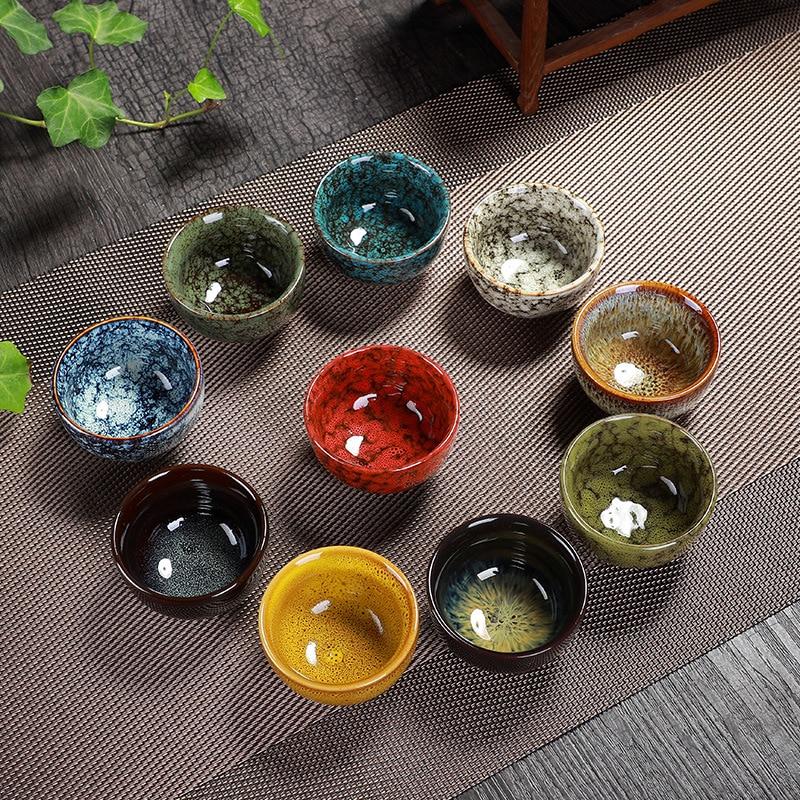 6pcs/set China Ceramic cup Change kiln tea cup Home Tea Cup Creative ceramic cup cups tazas de ceramica creativas drinkware