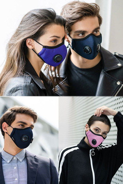 Wecan Anti Pollution Mask Filter Activated Carbon Mouth Face Mask Double Respirator Anti Haze Anti Allergy Flu PM2.5 Dust Mask 5