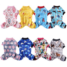 Pajamas Vest Jumpsuit Clothing Outfit T-Shirt Dogs Fleece Small Soft for Spring Autumn
