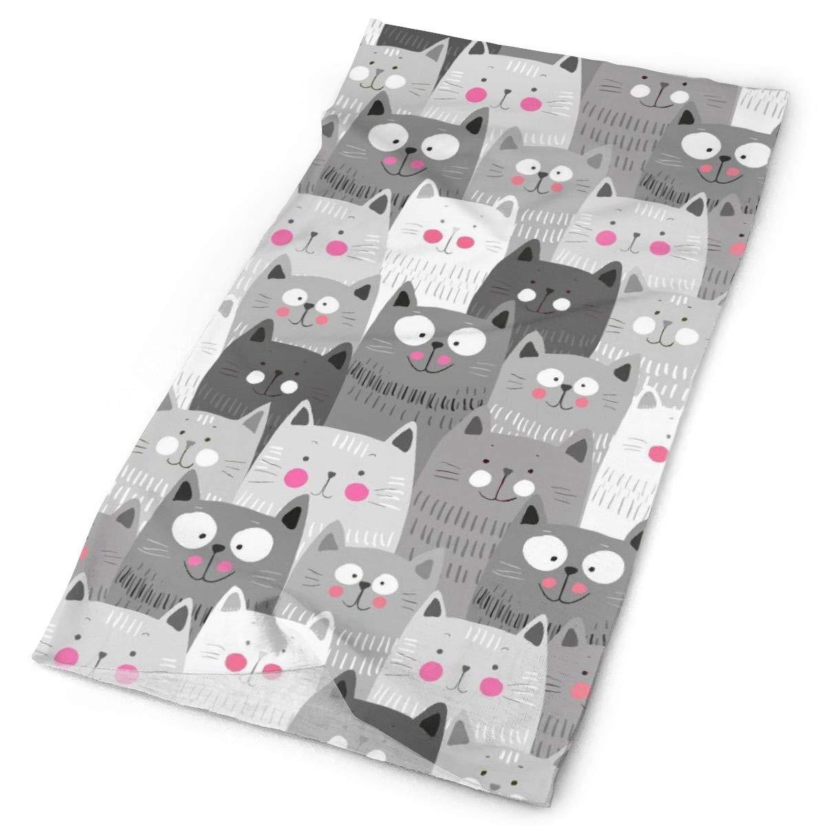 SHINYWEET Breathable Cute Cats Headwear Neck Gaiter Headband Face Scarf Magic Scarf Tube Scarf Bandana Balaclava And Sport Scarf