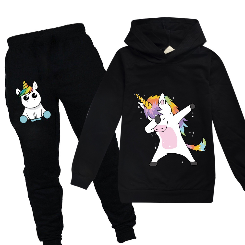 Kids Sweatshirts Coat Sportswear Hooded Unicorn Toddler Girls Baby Boys Casual Fashion title=