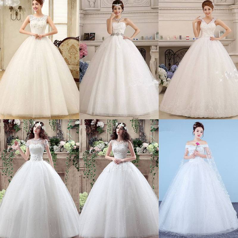 In Stock Wedding Dress 2019 Back Bow Crystal Strapless Wedding Dresses Plus Size Vestido De Novia XXN086 More Style Clearance