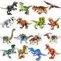 Новинка 16 шт./компл. мир динозавров юрского периода парк динозавр Раптор защита зоны строительные блоки Набор Детские игрушки совместимый б...